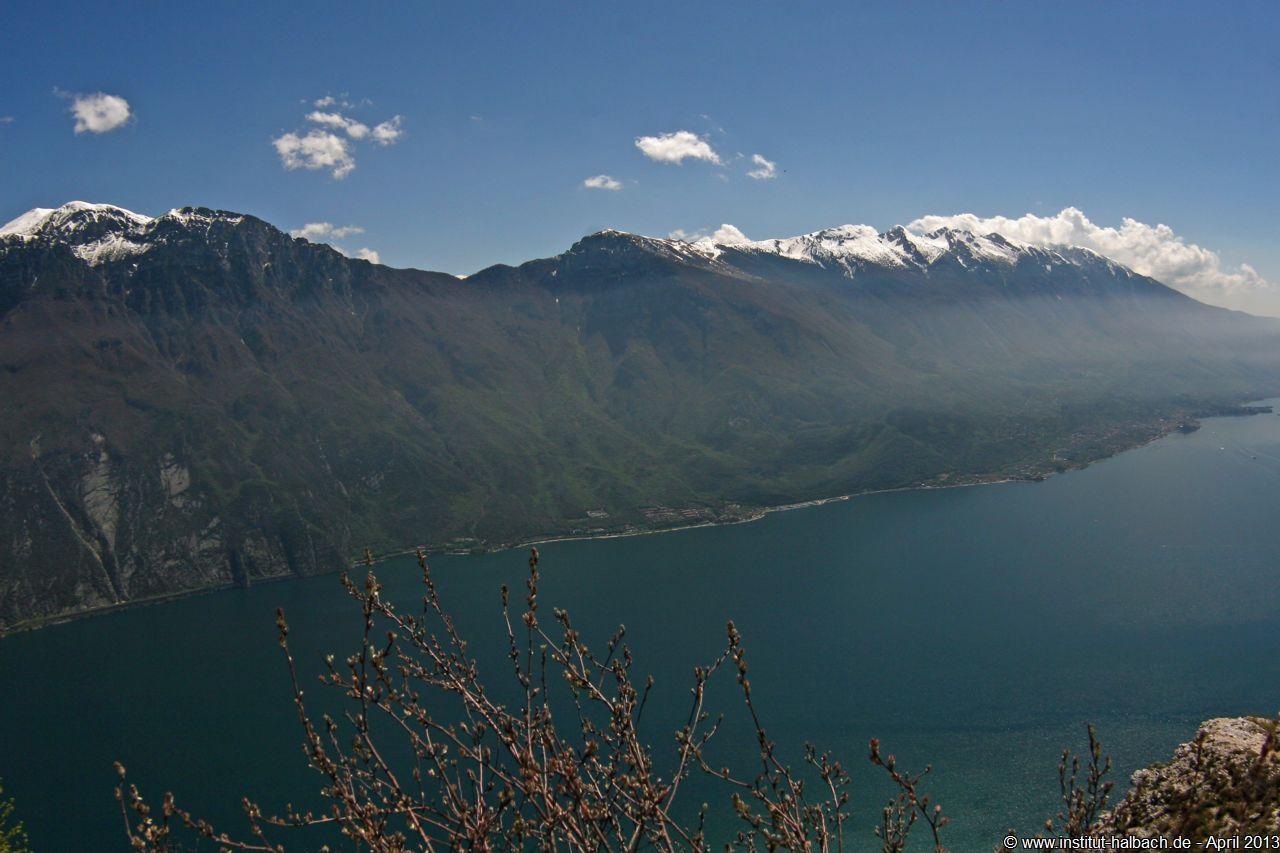 Blick vom Punta dei Larici in Richtung Monte Baldo