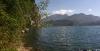 Unten am la Punta mit Blick auf den Monte Brione