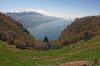 Blick vor dem Punta dei Larici in Gardasee