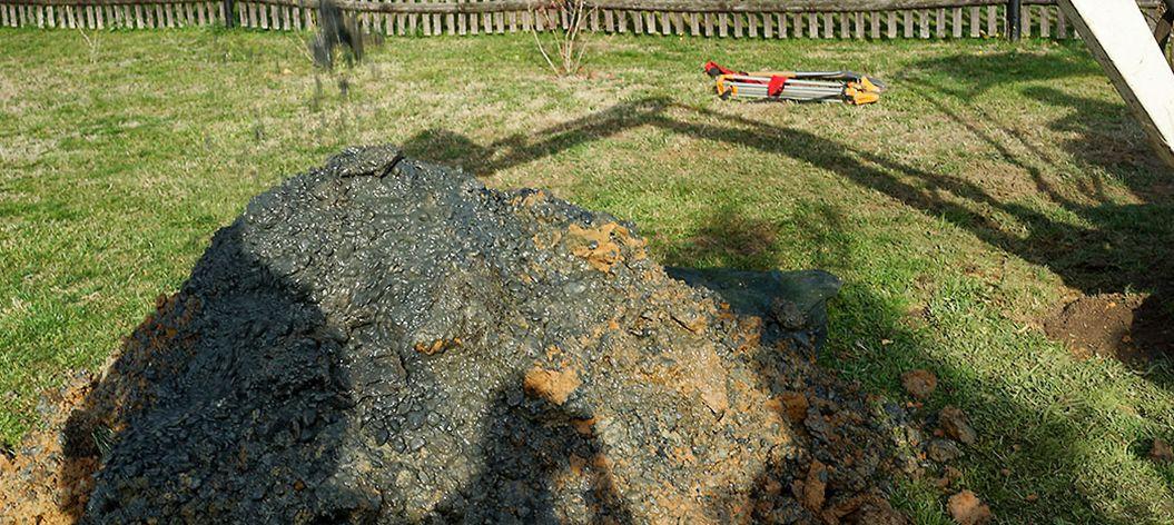Versickerung hoher Grundwasserstand